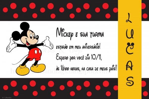 Festa de aniversário do mickey