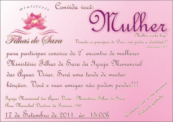Igreja manancial    2º encontro de mulheres