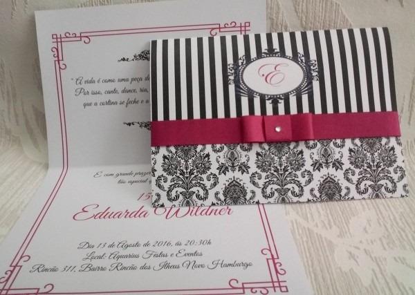 Convites Aniversario 15 Anos Debutante (140un)