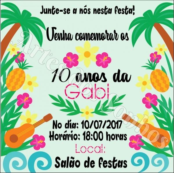 Convites para festas tropicais