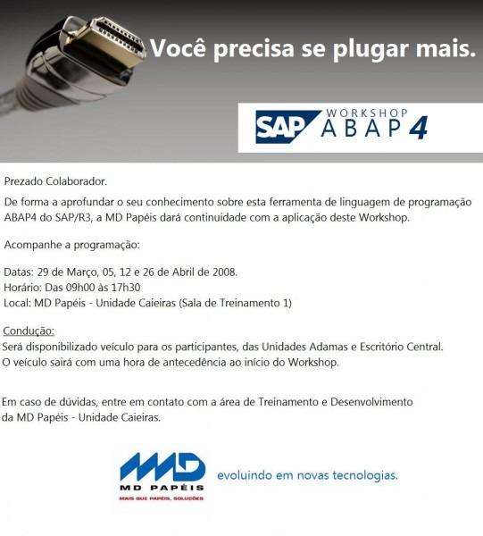 Convite Treinamento Empresa