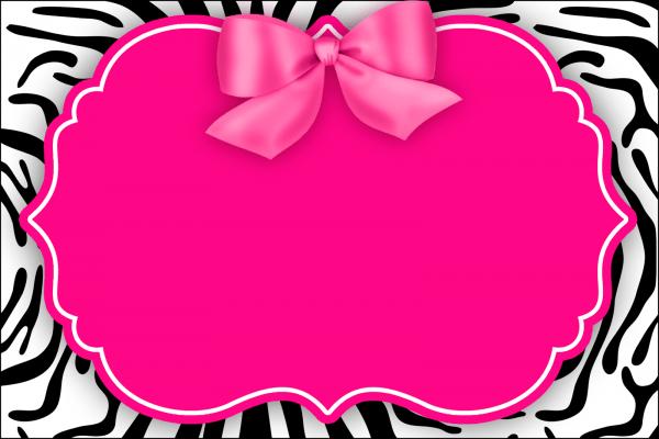 Montando minha festa  zebra rosa e preto