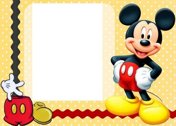 Free free printable custom mickey mouse baby shower invitation