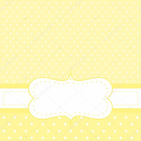Verão bonito cartão com bolinhas ou fundo amarelo vector — vetor