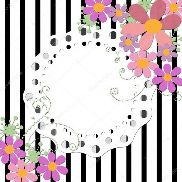 Convite De Casamento Moldura Floral Fundo Ou Cartão De Aniversário