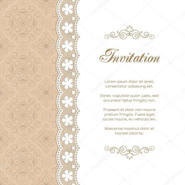 Modelo de convite vintage — vetores de stock © nonikastar  111896452