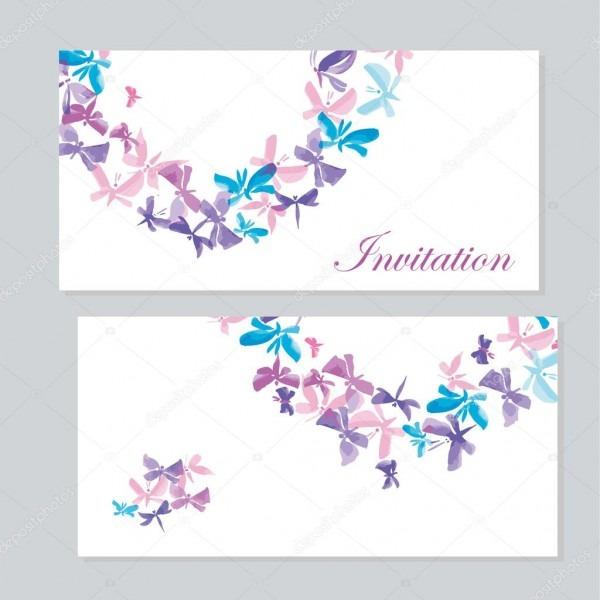 Modelo de convite de borboleta aquarela para casamento  sorteio de