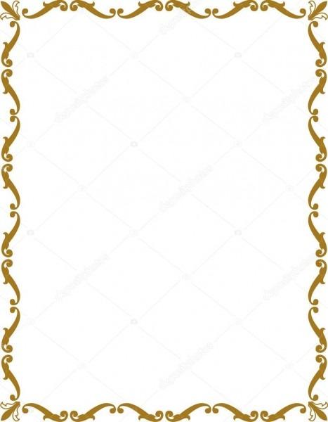 Borda dourada — vetor de stock © shazad  1462232