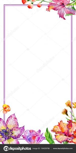 Convite modelo diy flores silvestres hibisco flor handmade