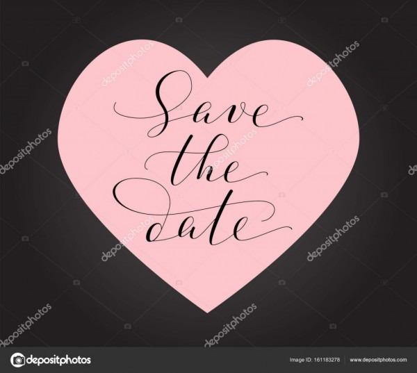 Salve a data card, modelo de convite de casamento  escrita de
