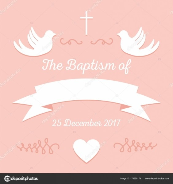 Modelo de convite de batismo — vetor de stock © greenvector  174258174