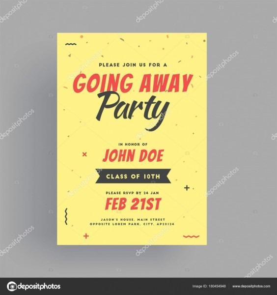 Banner de festa de despedida, ou design de cartão de convite