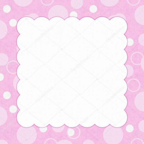 Fundo De Bolinhas Rosa Para A Sua Mensagem Ou Convite