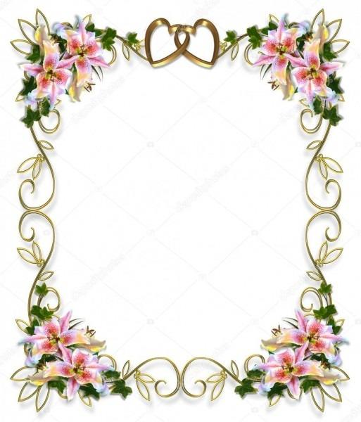 Convite De Casamento Floral De Lírios — Stock Photo © Irisangel