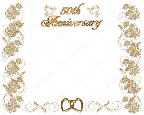 Convite de aniversário de casamento 50 anos — fotografias de stock