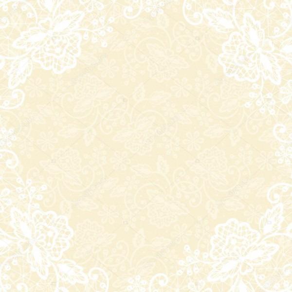 Renda branca sobre fundo amarelo — vetor de stock © prikhnenko