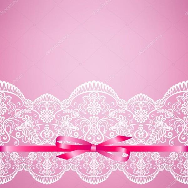 Laço Em Fundo Rosa — Vetores De Stock © Prikhnenko  76155879