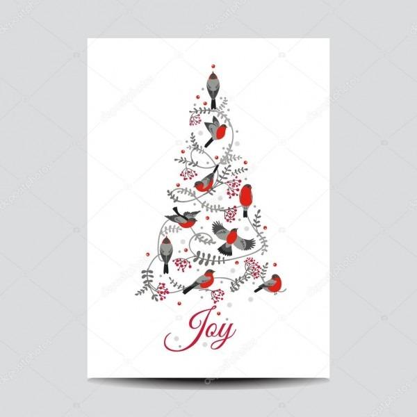 Cartão de natal retrô