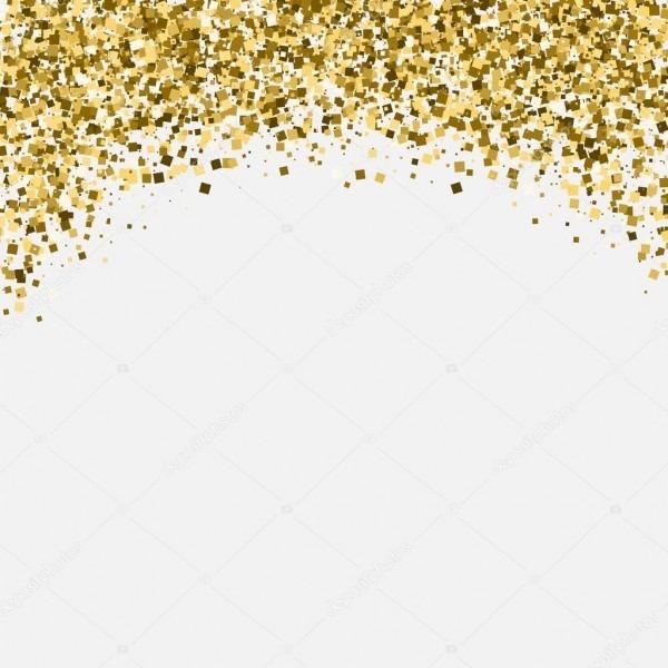 Título Cintilante Glitter Dourados  Cartão Do Convite Ou Flyer Com