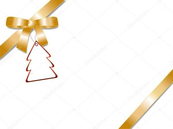 Laço de fita dourada com distintivo vermelho árvore de natal