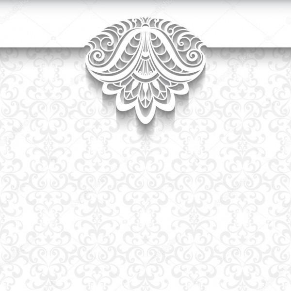 Fundo De Renda Branca, Modelo De Convite De Casamento — Vetores De