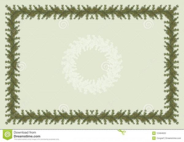 Diploma ou convite com árvore de natal ilustração stock