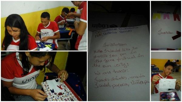 Unidade integrada alexandre pires  alunos do noturno produzem