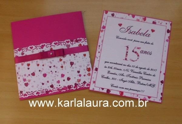 Convite De Aniversário 15 Anos