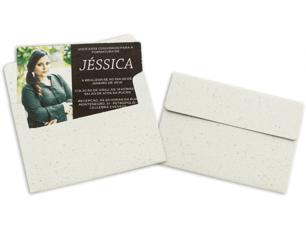 Convite e envelope abertura superior 2