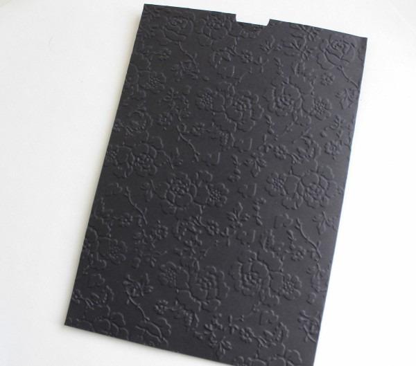 Envelope preto para convite 15x21,5 cm no elo7
