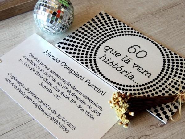 Convite Aniversário 60 Anos