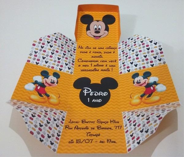 Wr personalizados  convite caixinha mickey