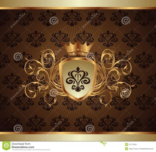 Frame ou embalagem do convite do ouro ilustração do vetor