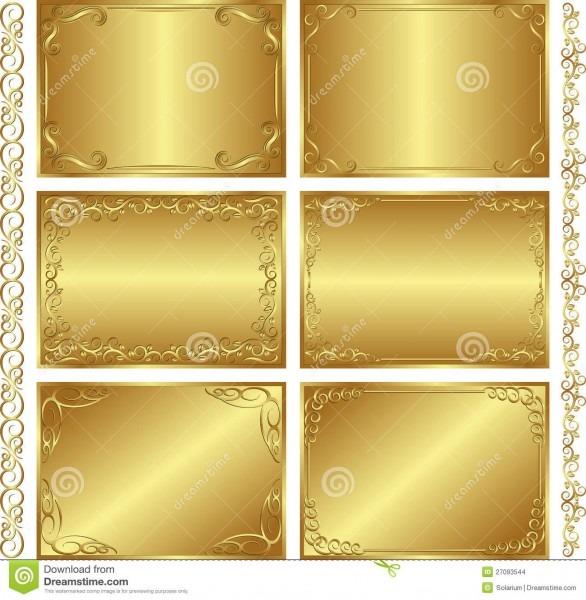 Fundos Dourados Ilustração Do Vetor  Ilustração De Cantos