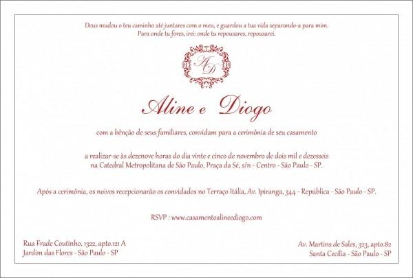 Galeria como escrever no convite de casamento quando os noivos