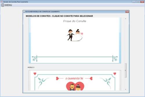Tag; programa para fazer convite de casamento