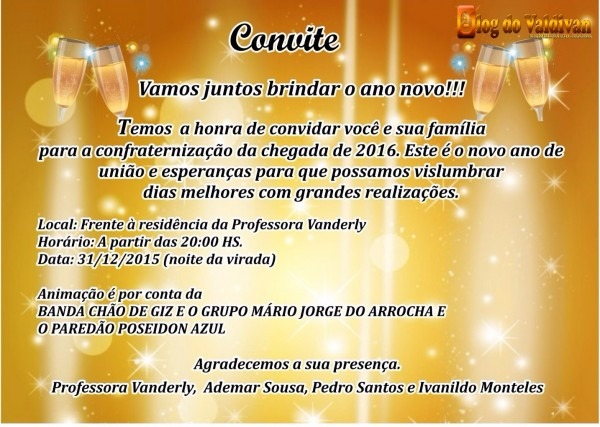 Convite de ano novo