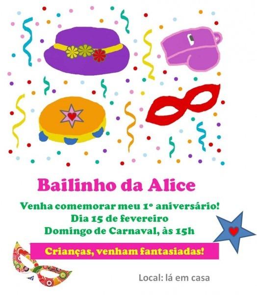 Festa infantil em casa  bailinho de carnaval