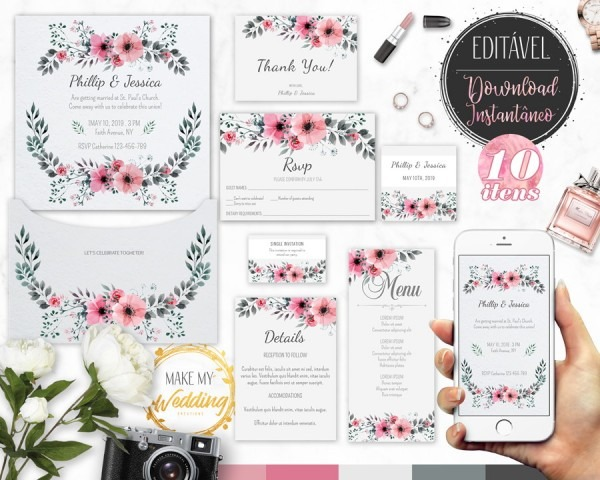 Impressão digital convite no elo7