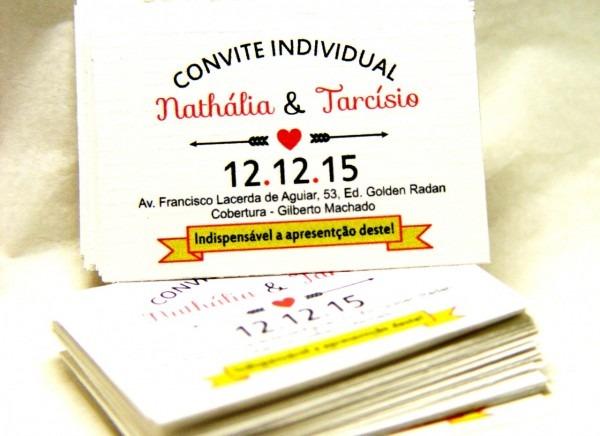 Novo de convite individual casamento pronto para editar kit r