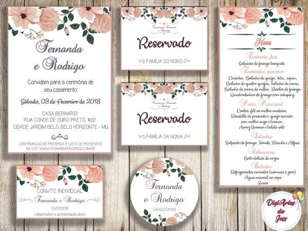 Kit de casamento digital (para impressão)
