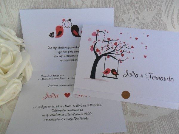 Lindo Convite De Casamento Barato Promoção (100un)