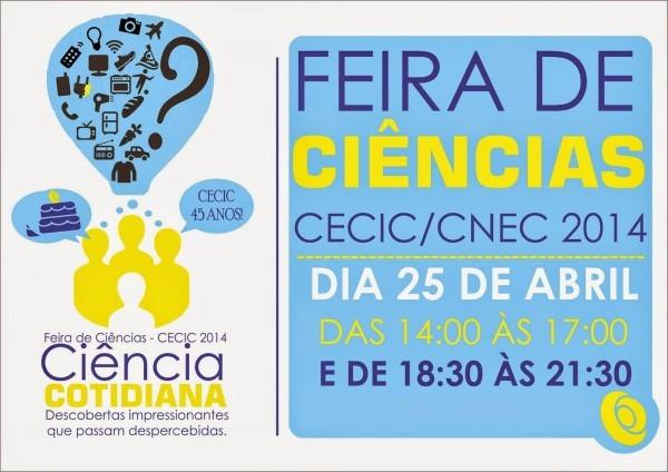 Feira de ciências cecic  convite feira de ciências