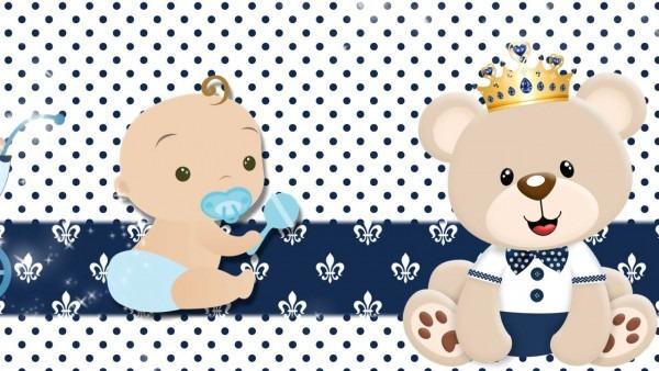 Convite chá de bebê ursinho príncipe do rafael g