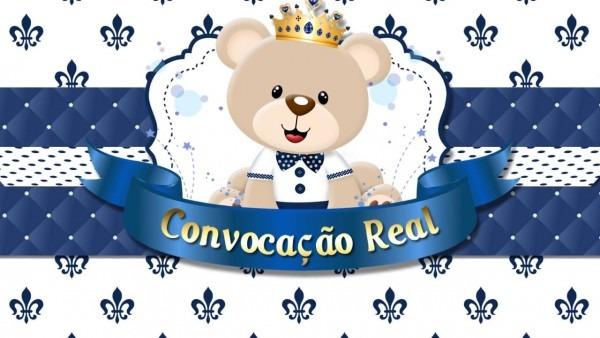 Convite animado ursinho príncipe ( lucas miguel 1 aninho)