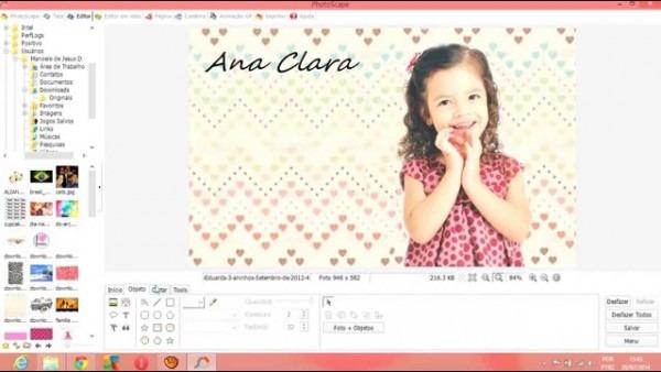 Como Fazer Convite Pelo Photoscape Para Crianças