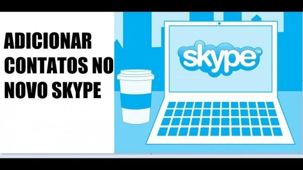 Como adicionar contatos no novo skype