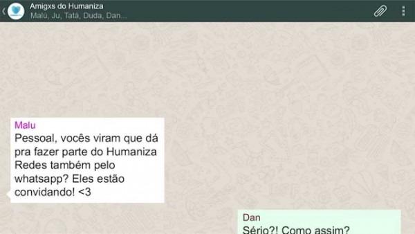 Receba seu convite no whatsapp  vem fazer parte do humaniza redes