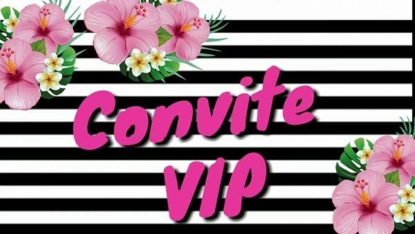 Convite animado festa tropical  flamingo   festa de adulto
