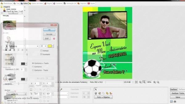 Fazer Montagens Photoscape Convites De Aniversario